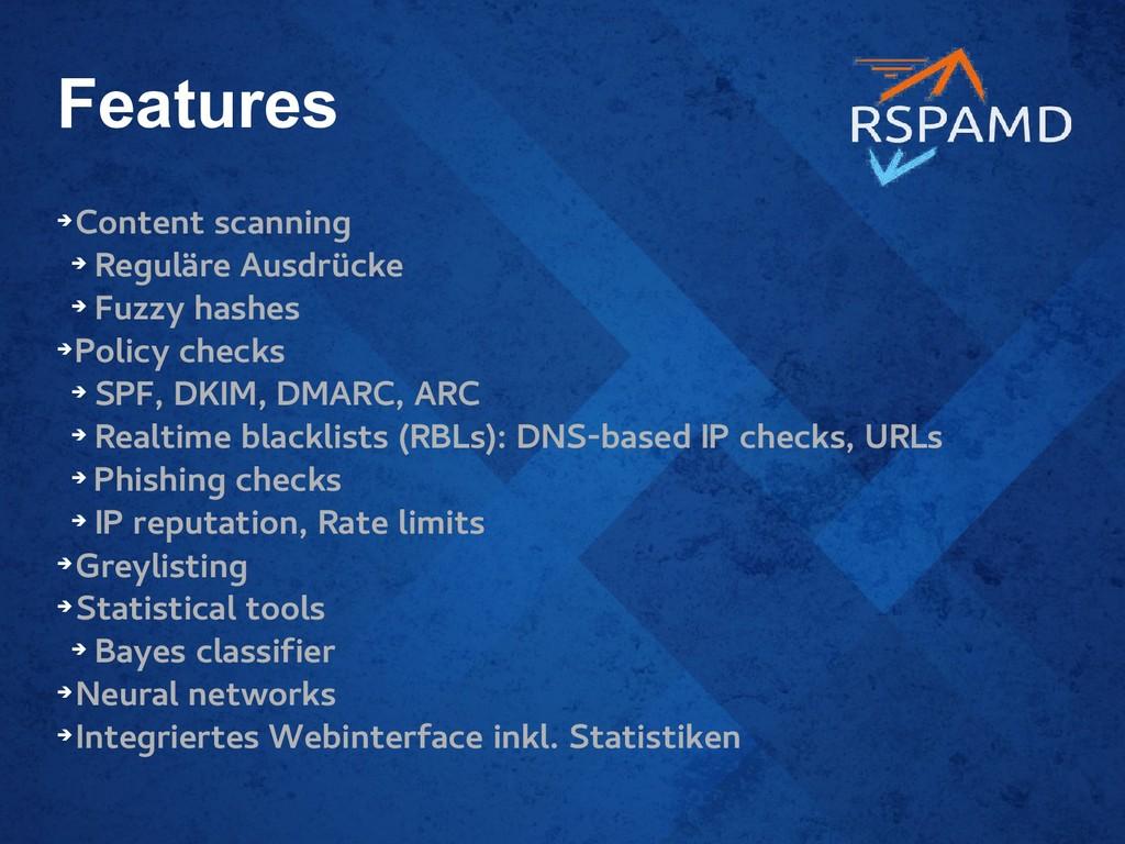 Features ➔ Content scanning ➔ Reguläre Ausdrück...