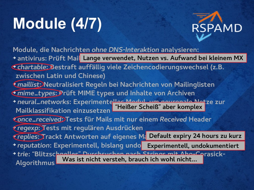 Module (4/7) Module, die Nachrichten ohne DNS-I...