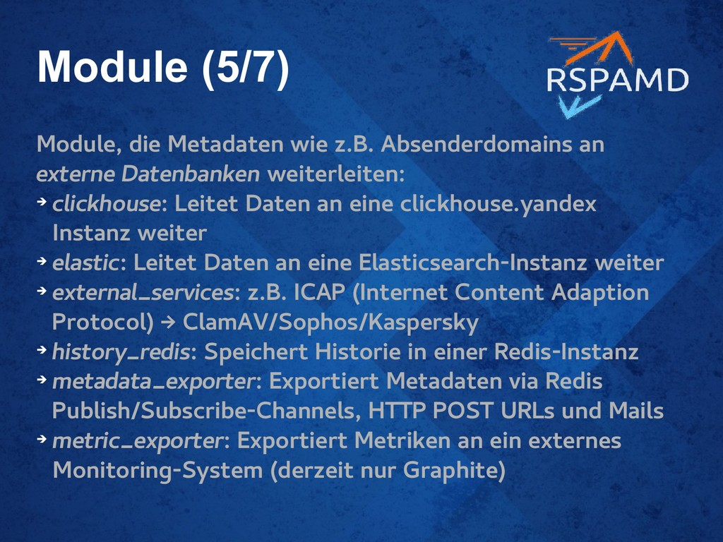 Module (5/7) Module, die Metadaten wie z.B. Abs...