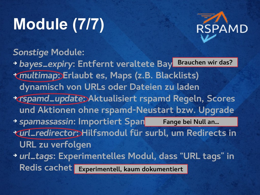 Module (7/7) Sonstige Module: ➔ bayes_expiry: E...