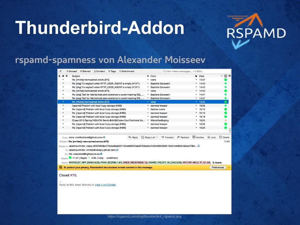 Thunderbird-Addon rspamd-spamness von Alexander...