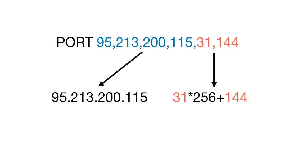 PORT 95,213,200,115,31,144 31*256+144 95.213.20...