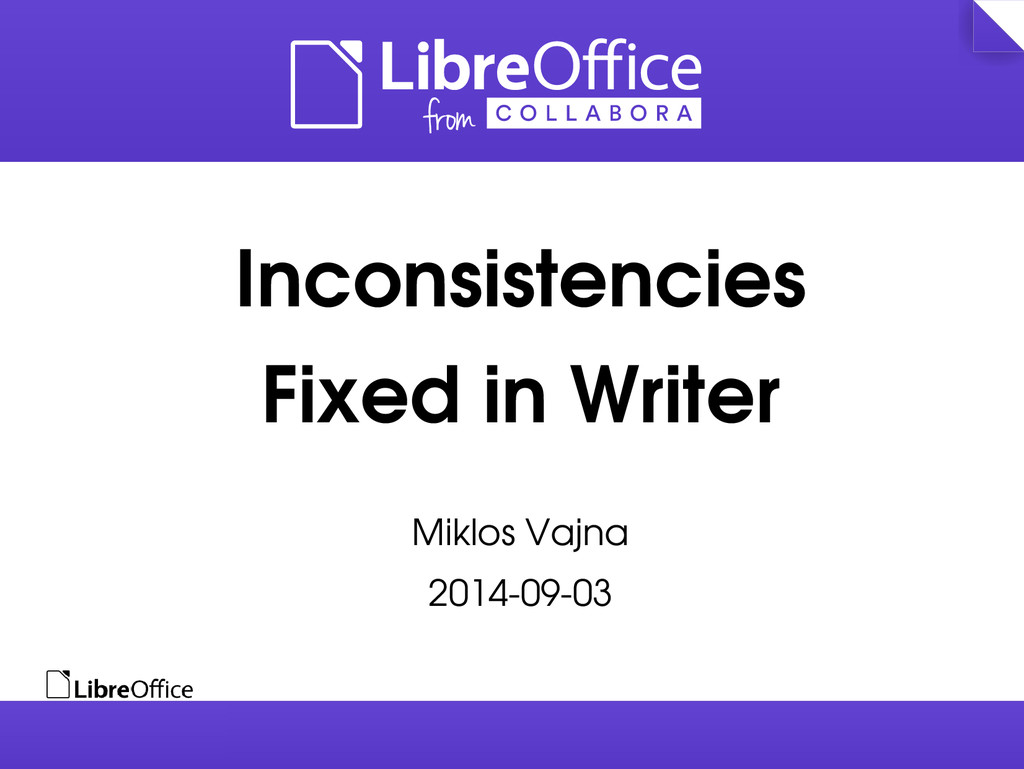 Inconsistencies Fixed in Writer Miklos Vajna 20...