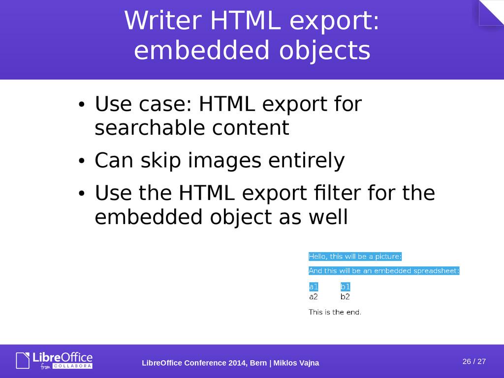 26 / 27 LibreOffice Conference 2014, Bern   Mik...