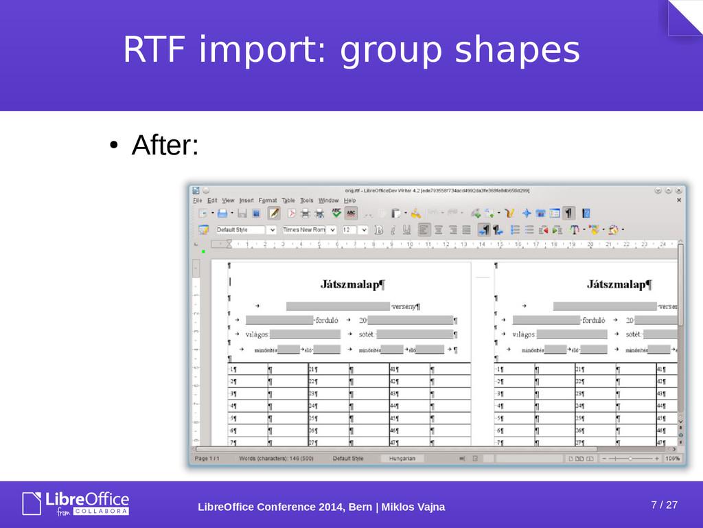 7 / 27 LibreOffice Conference 2014, Bern   Mikl...