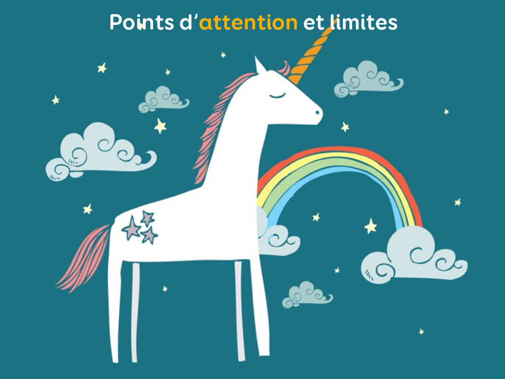 Points d'attention et limites
