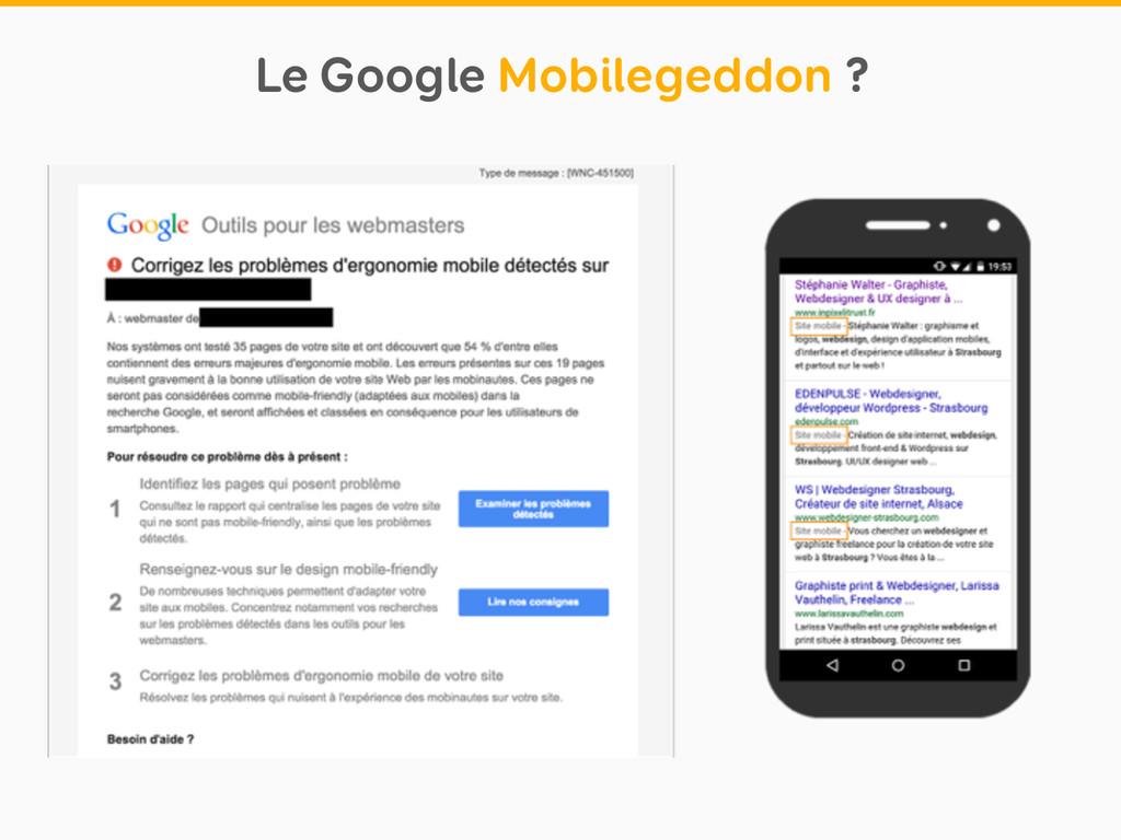 Le Google Mobilegeddon ?
