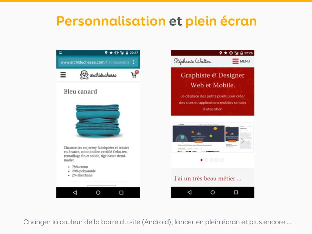 Changer la couleur de la barre du site (Android...