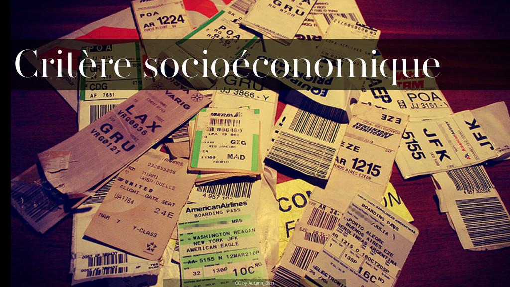CC by Autumn_Bliss Critère socioéconomique