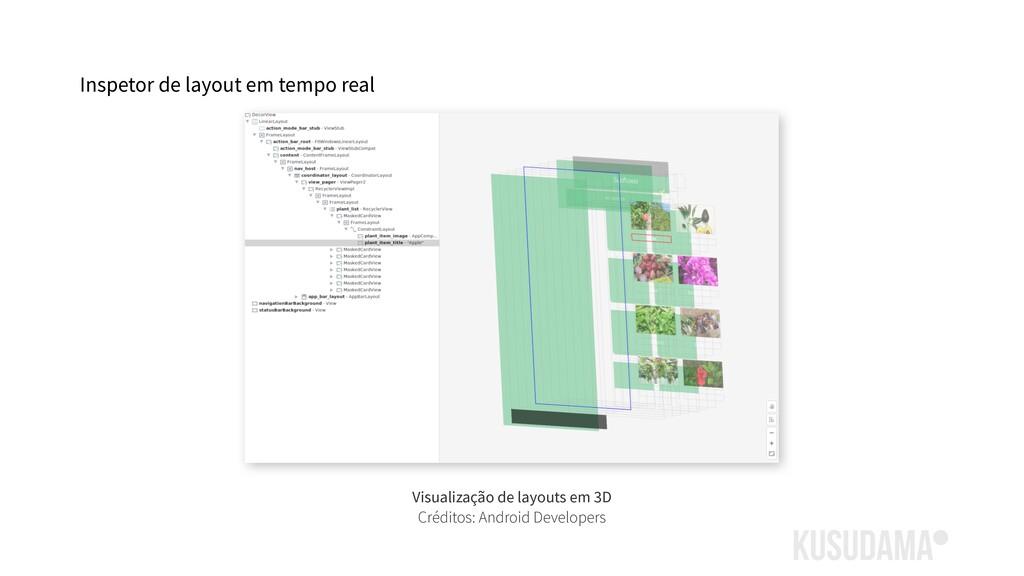 Inspetor de layout em tempo real Visualização d...