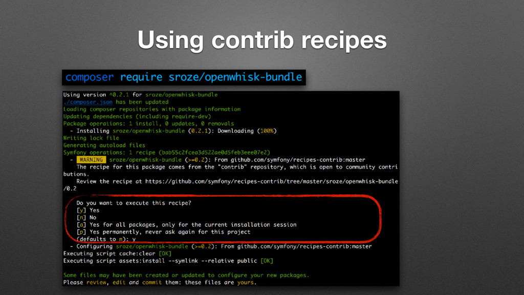 Using contrib recipes