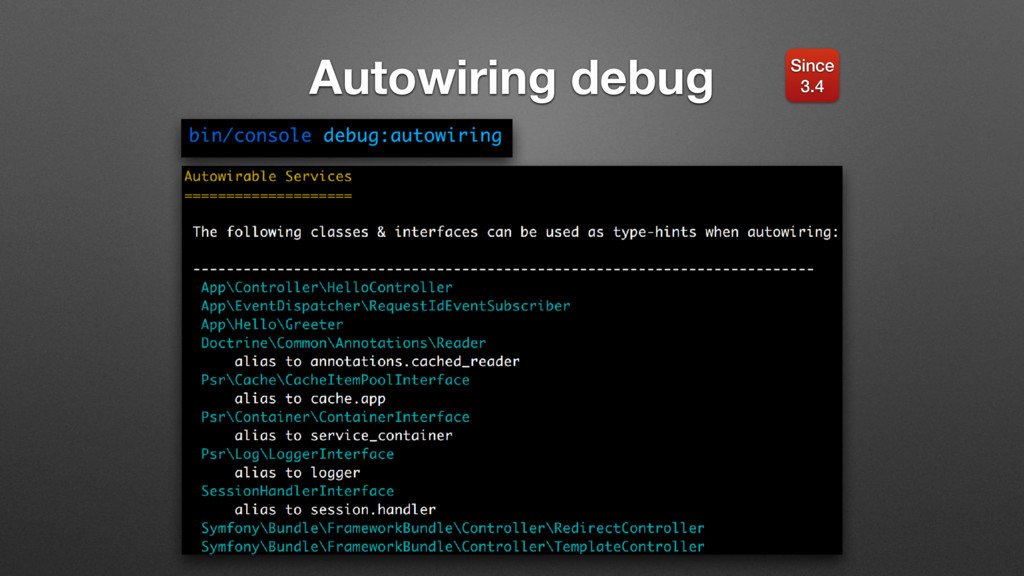Autowiring debug Since 3.4