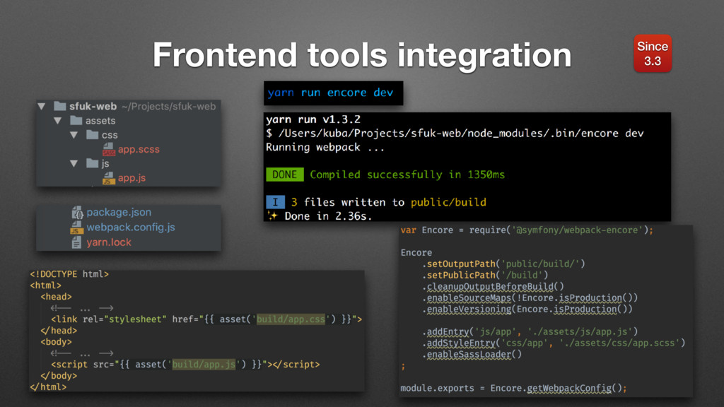 Frontend tools integration Since 3.3