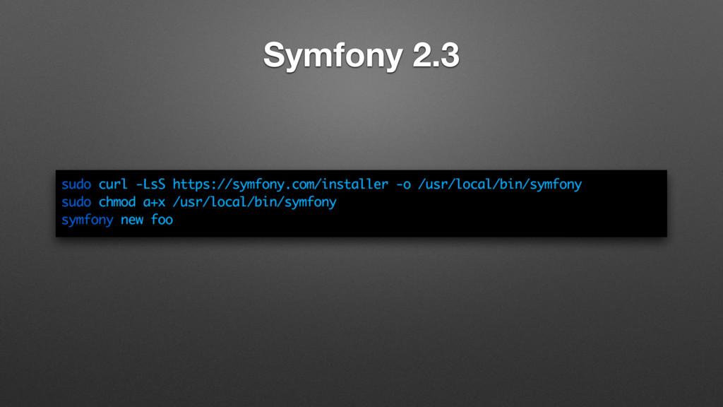 Symfony 2.3