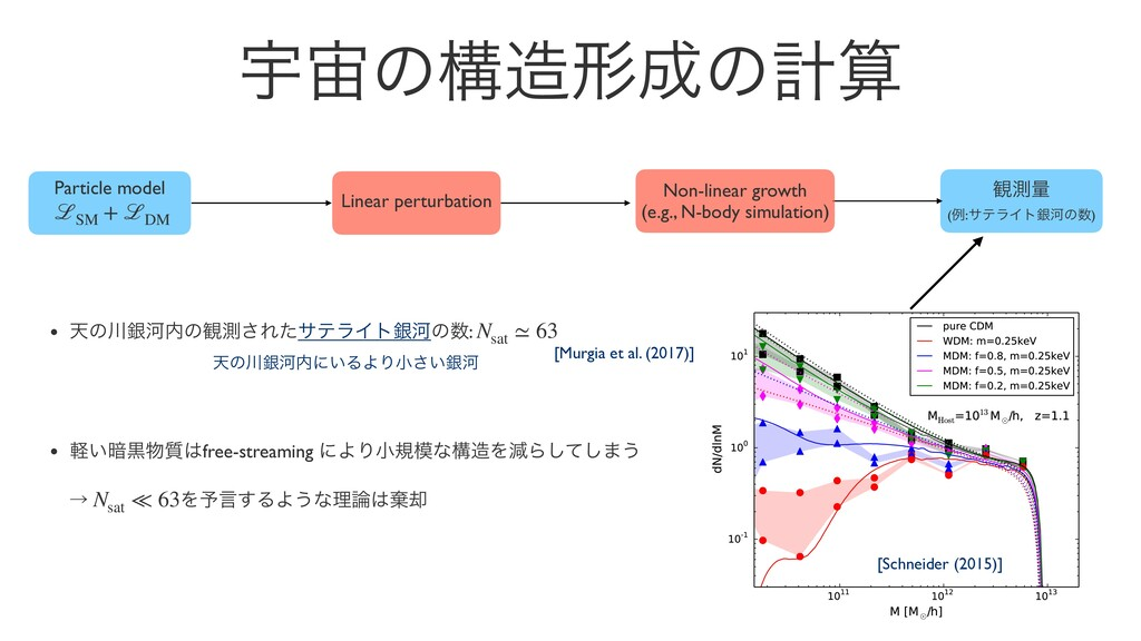 Ӊͷߏܗͷܭ Particle model ℒSM + ℒDM Linear pert...