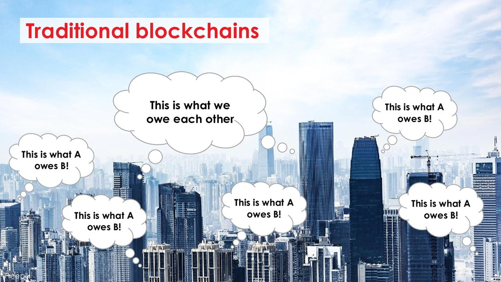 Traditional blockchains This is what we owe eac...