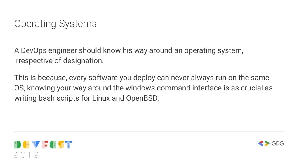 Operating Systems A DevOps engineer should know...
