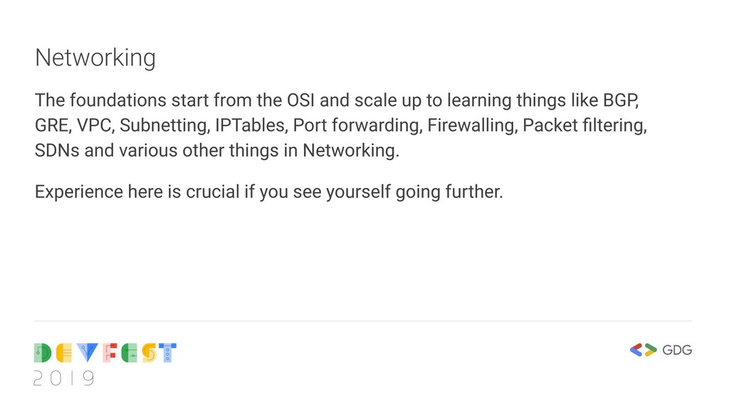 Networking The foundations start from the OSI a...