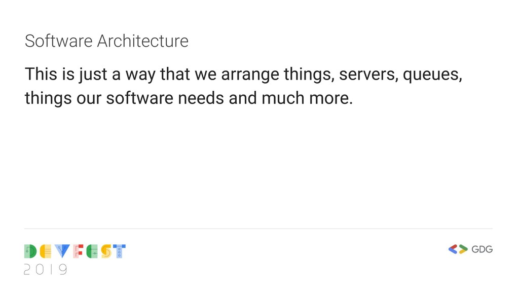 Software Architecture This is just a way that w...