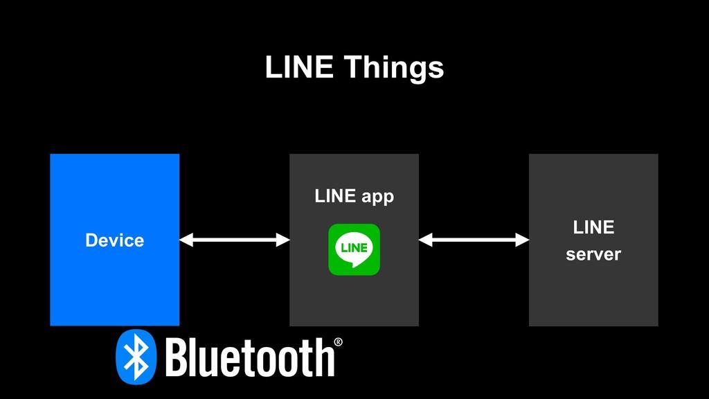 LINE Things LINE server LINE app Device