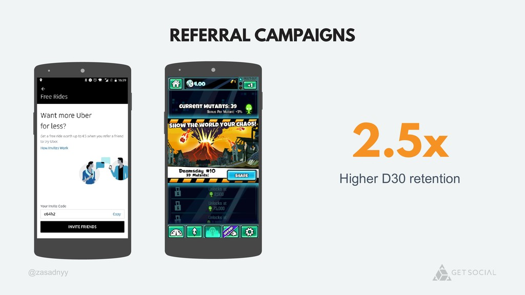 @zasadnyy REFERRAL CAMPAIGNS 2.5x Higher D30 re...