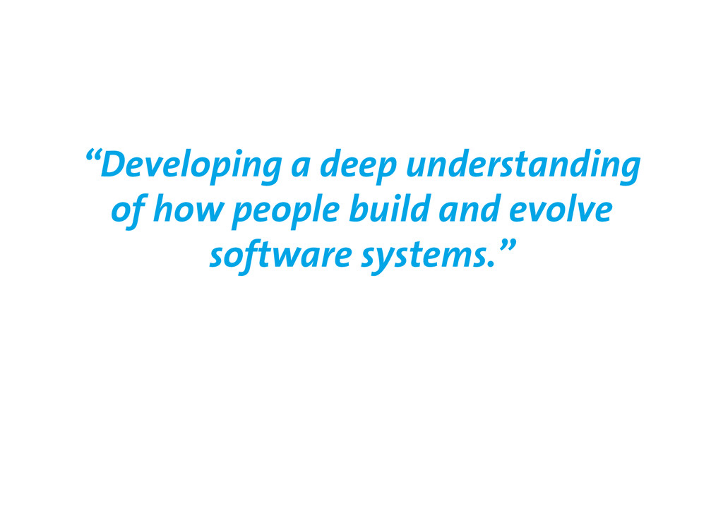"""Developing a deep understanding of how people ..."