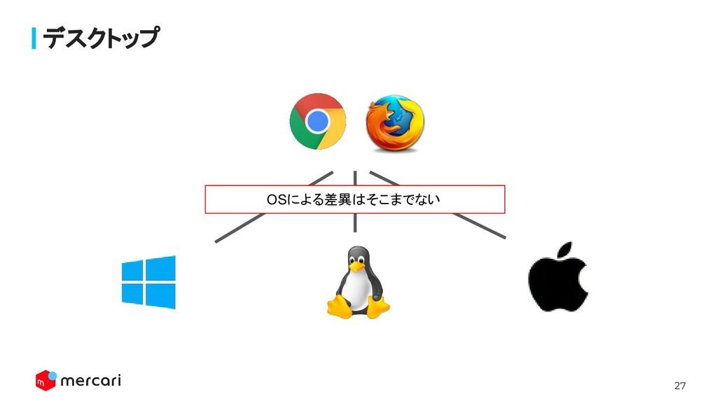 27 Confidential - Do Not Share デスクトップ OSによる差異はそこ...