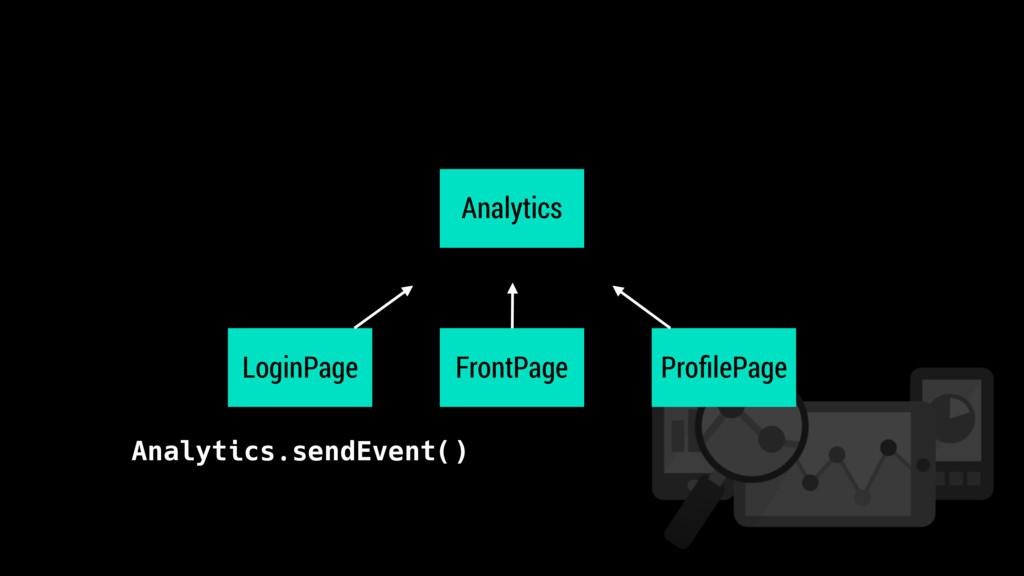 Analytics LoginPage ProfilePage FrontPage Analyt...