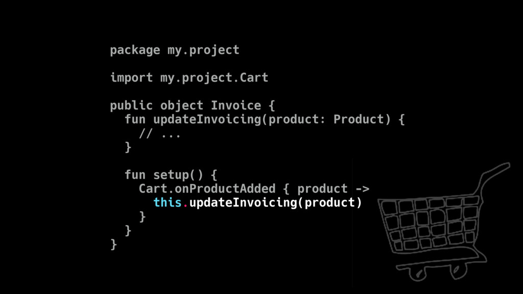 package my.project import my.project.Cart publi...