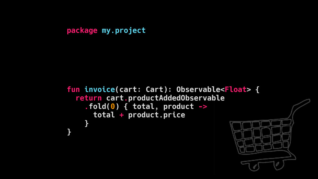 package my.project fun invoice(cart: Cart): Obs...