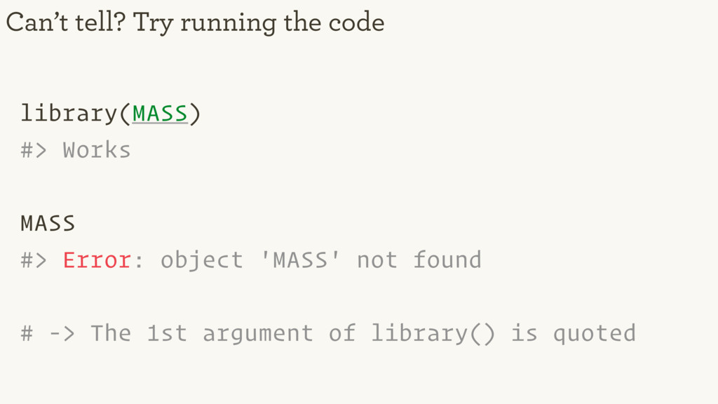 library(MASS) #> Works MASS #> Error: object 'M...