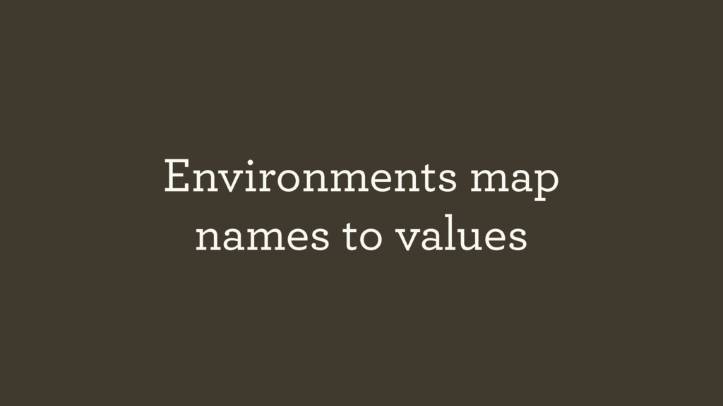Environments map 