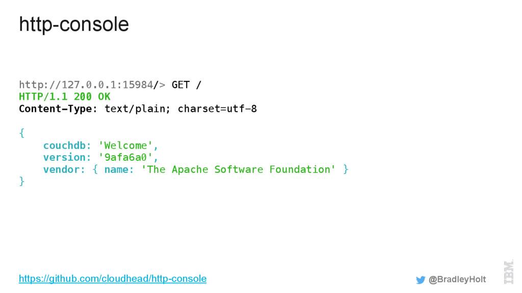 http-console http://127.0.0.1:15984/> GET /! HT...