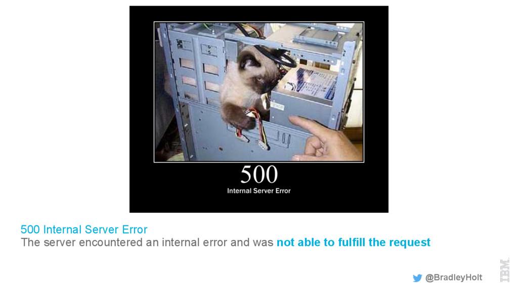 500 Internal Server Error The server encountere...