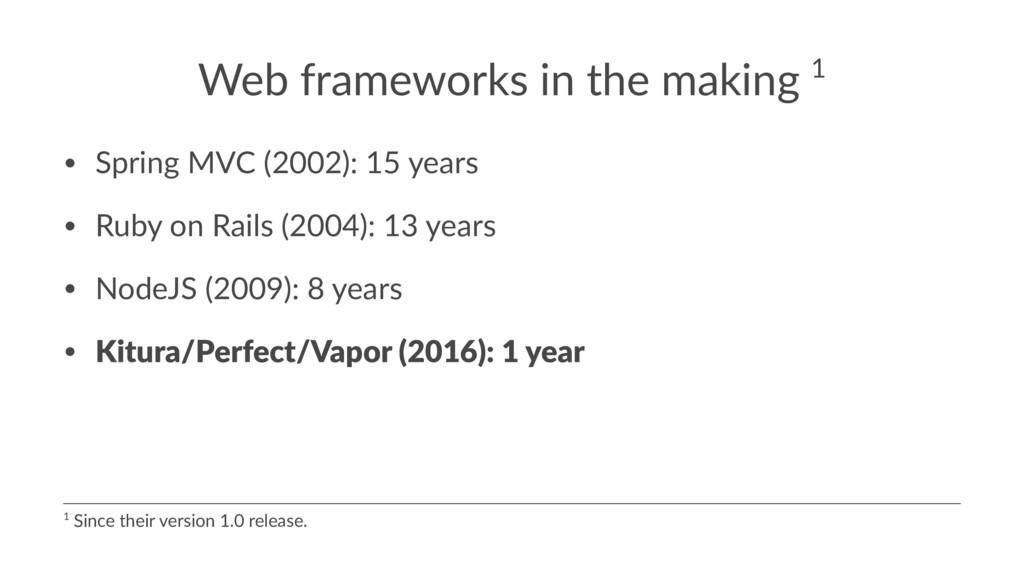 Web frameworks in the making 1 • Spring MVC (20...