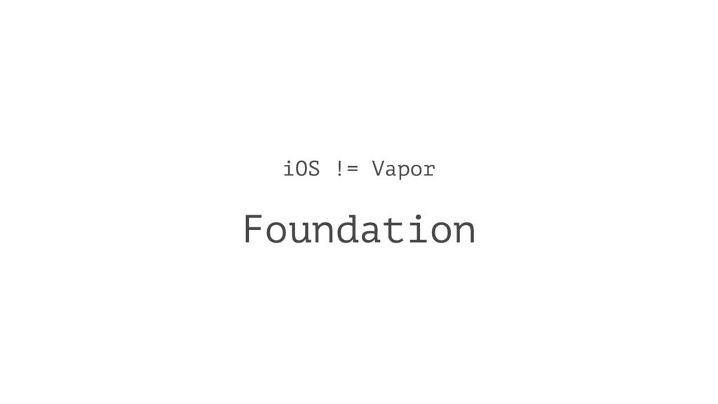 iOS != Vapor Foundation