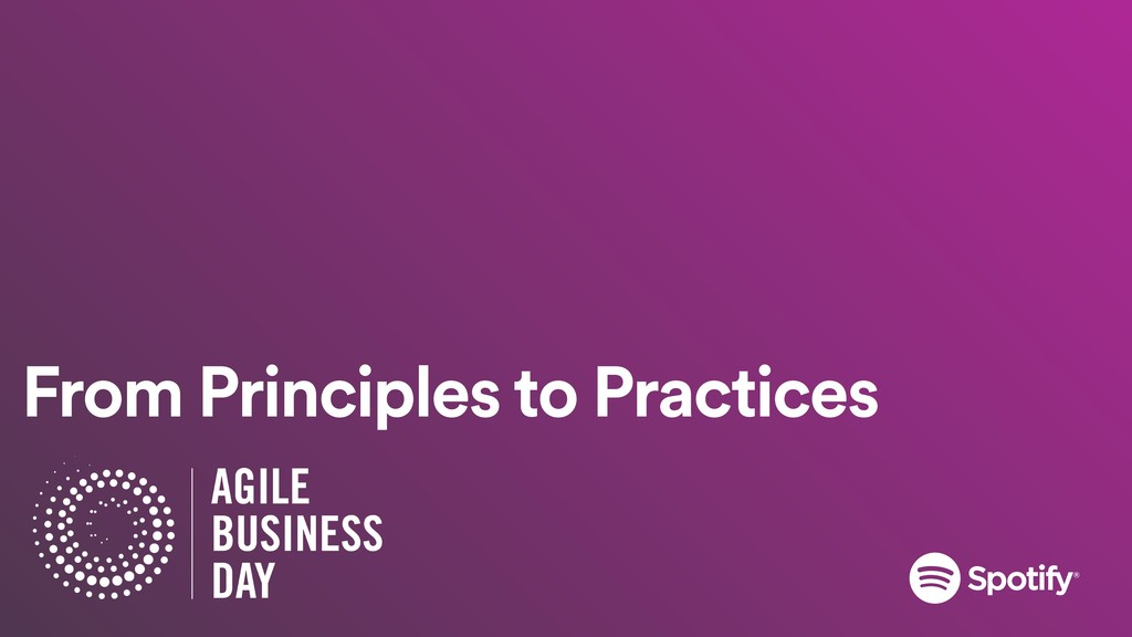 From Principles to Practices