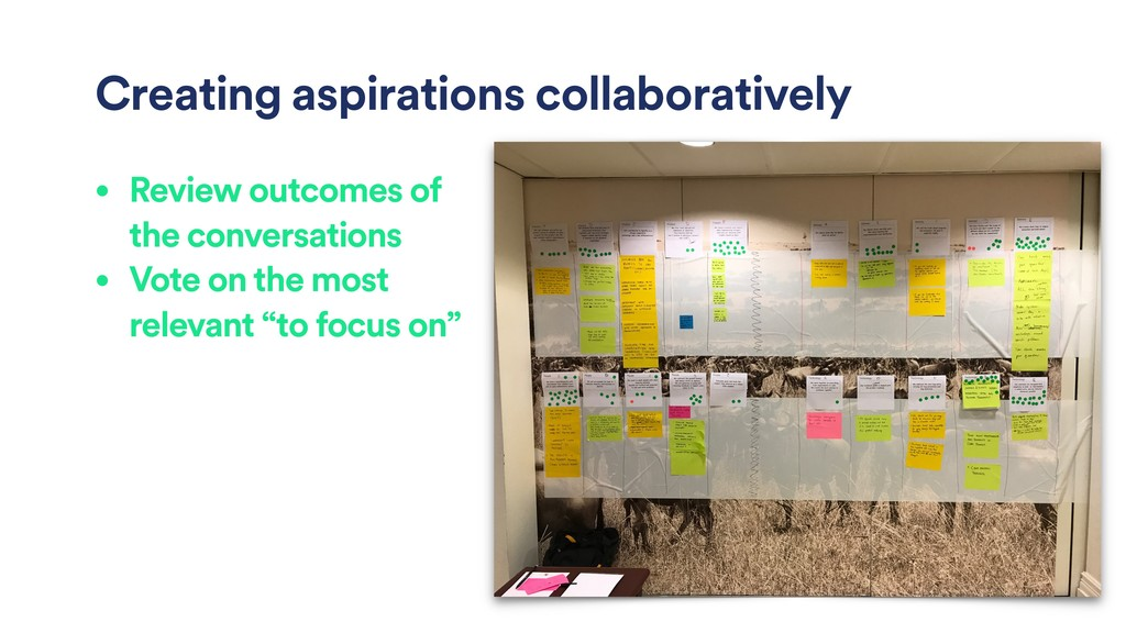 Creating aspirations collaboratively • Review o...