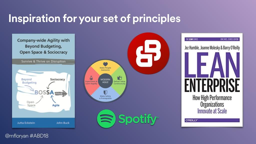 Inspiration for your set of principles @mflorya...