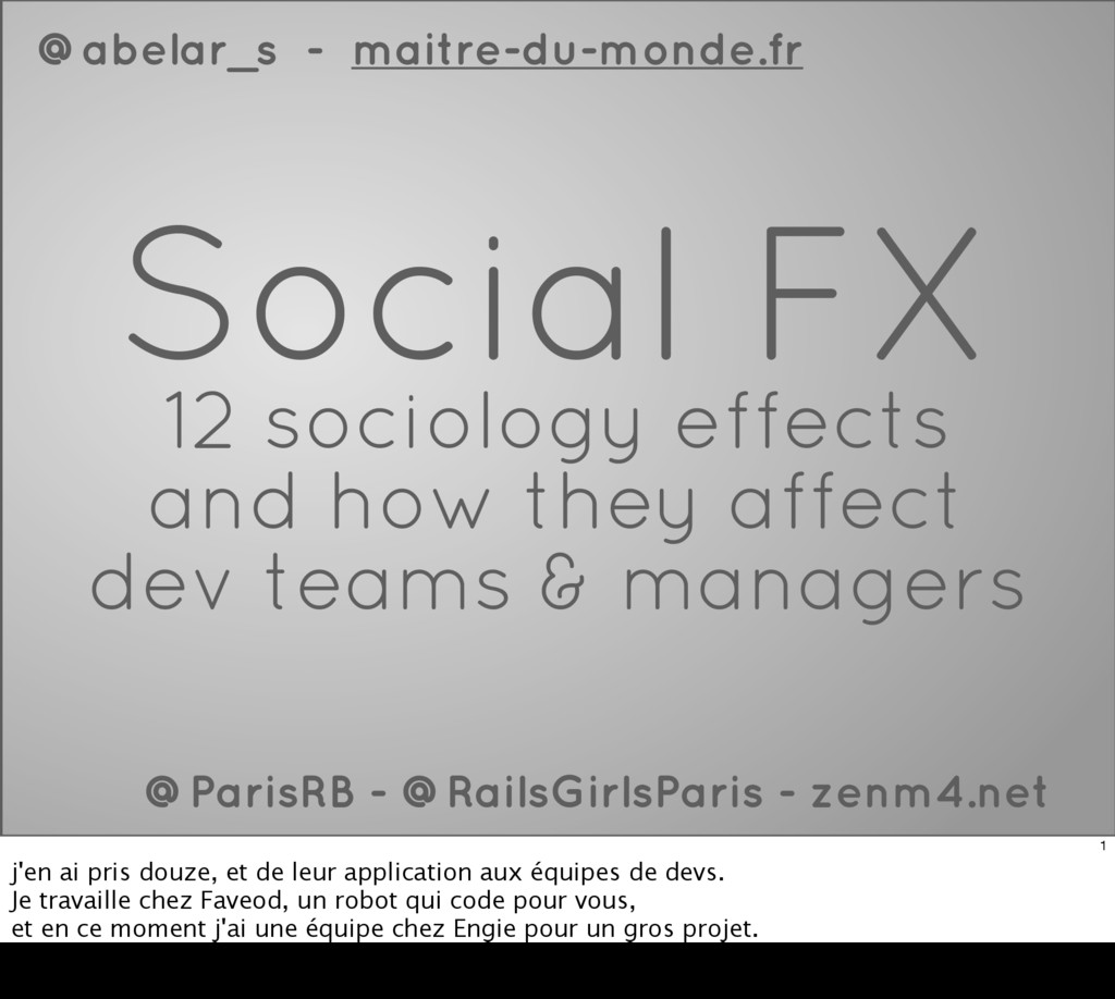 Social FX 12 sociology effects and how they aff...