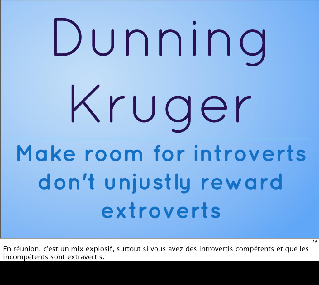 Dunning Kruger Make room for introverts don't u...