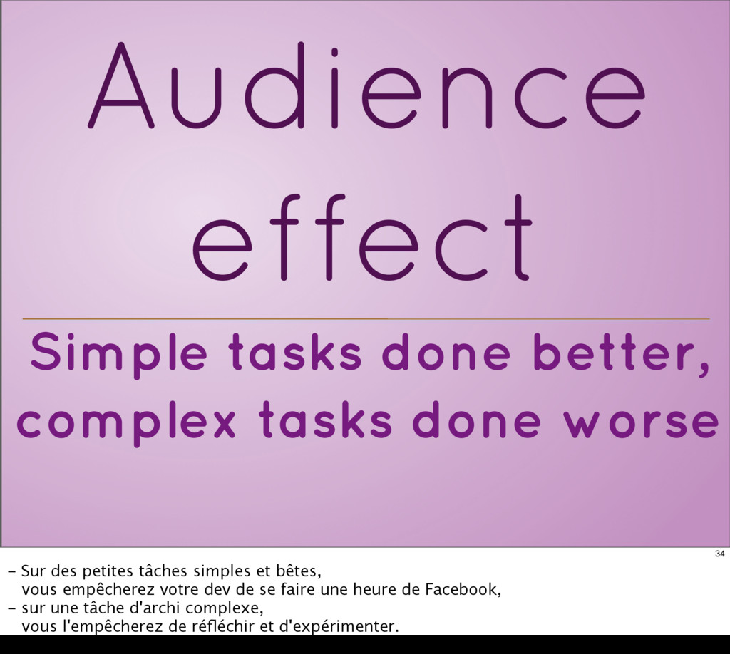 Simple tasks done better, complex tasks done wo...
