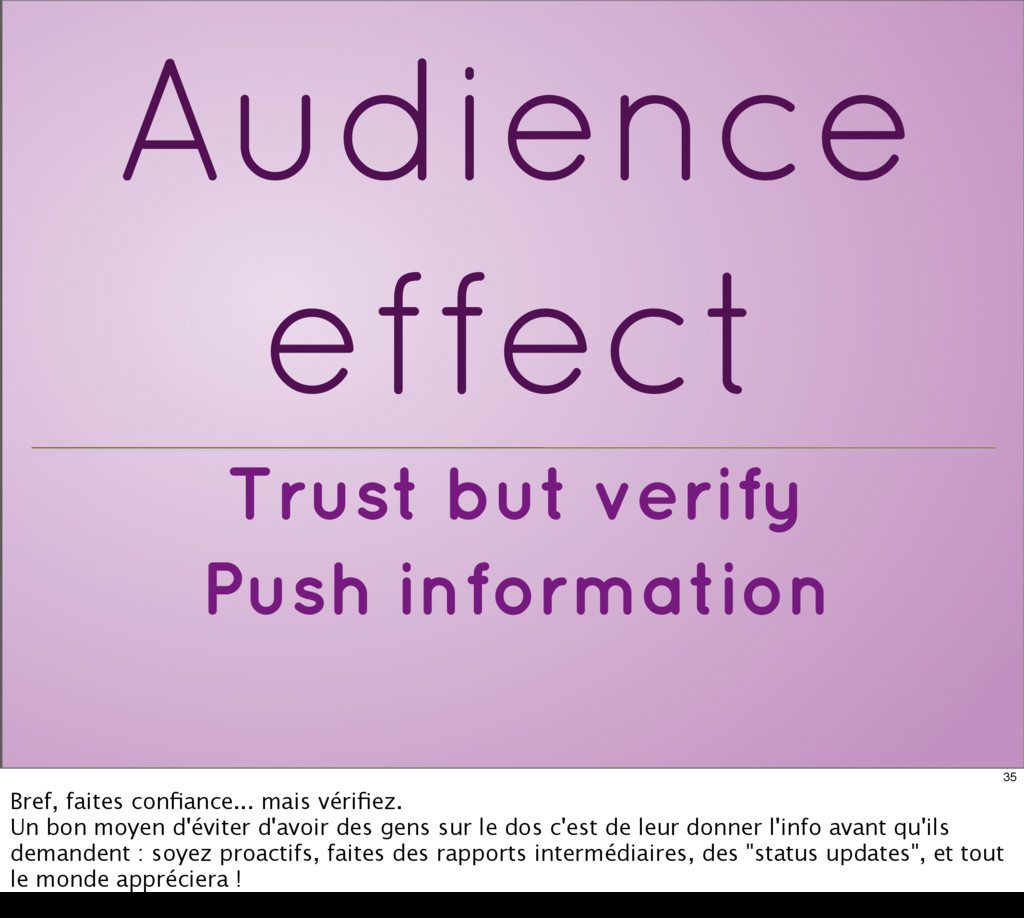 Trust but verify Push information Audience effe...