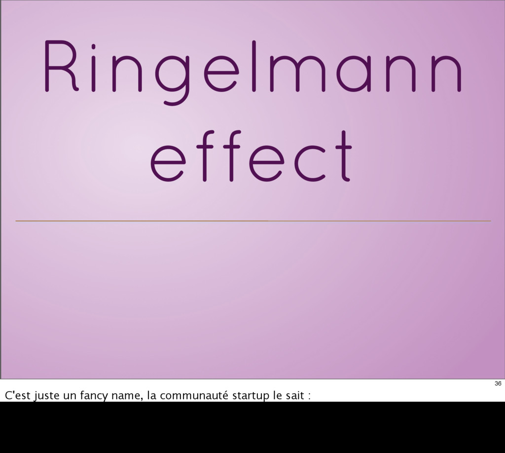 Ringelmann effect 36 C'est juste un fancy name,...