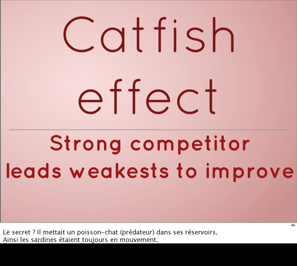 Strong competitor leads weakests to improve Cat...