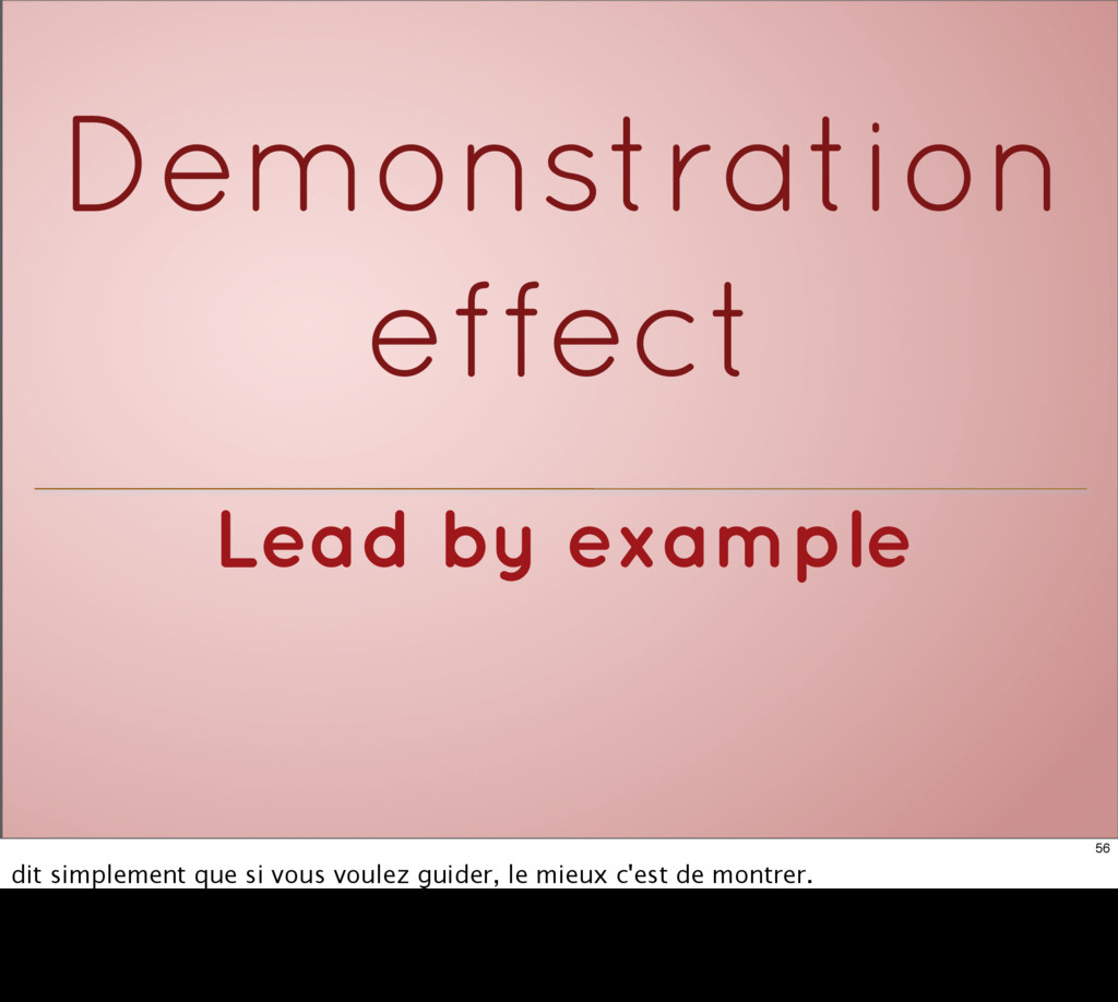 Lead by example Demonstration effect 56 dit sim...