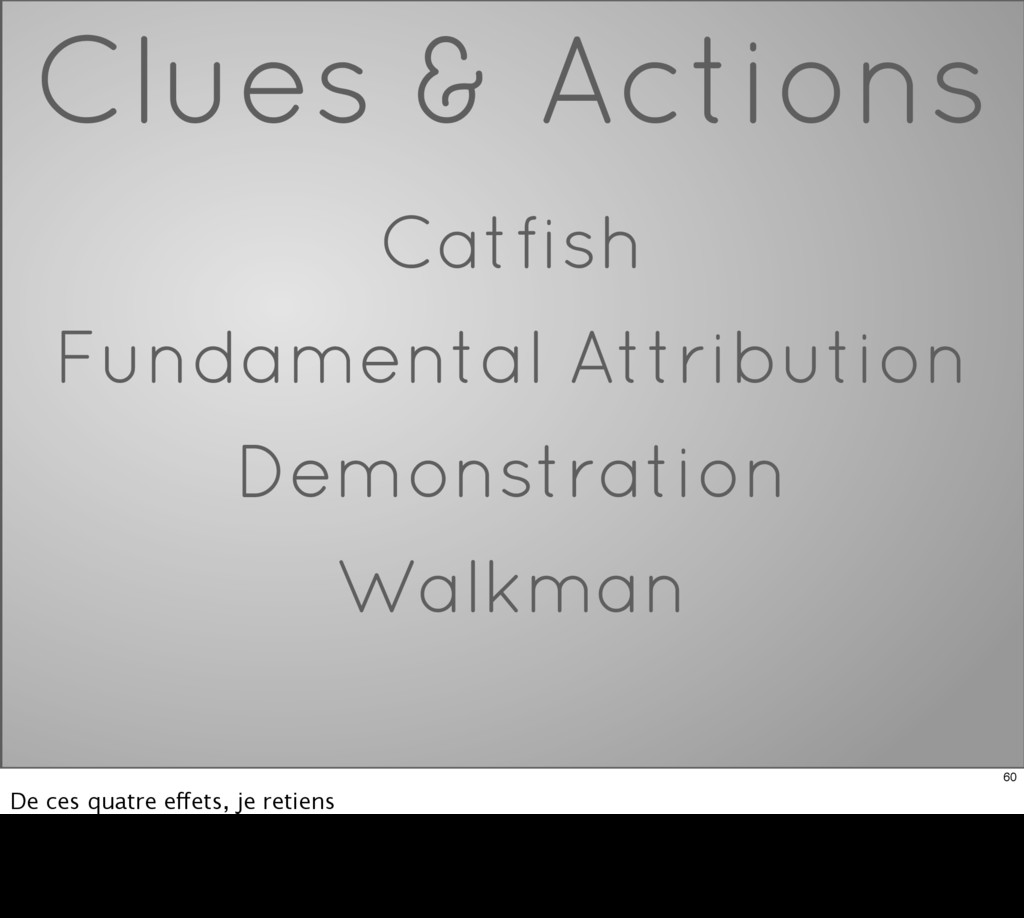 Clues & Actions Catfish Fundamental Attribution...