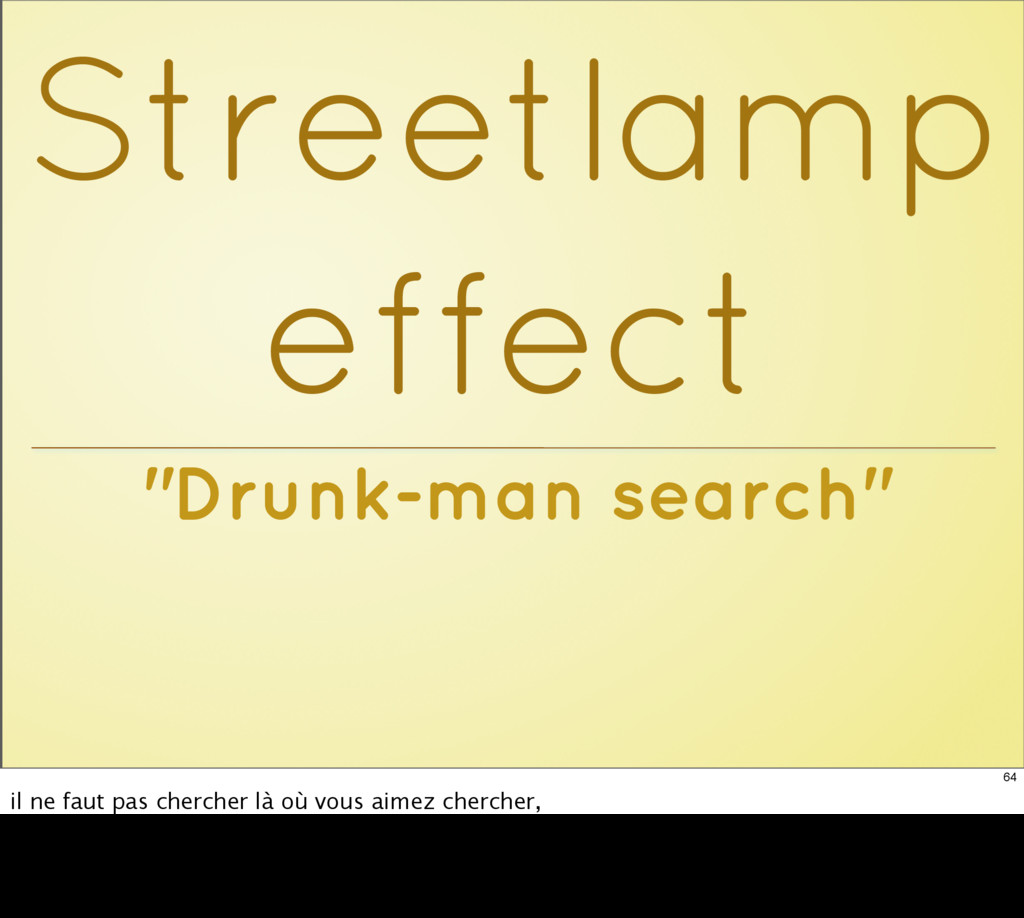 """Drunk-man search"" Streetlamp effect 64 il ne f..."