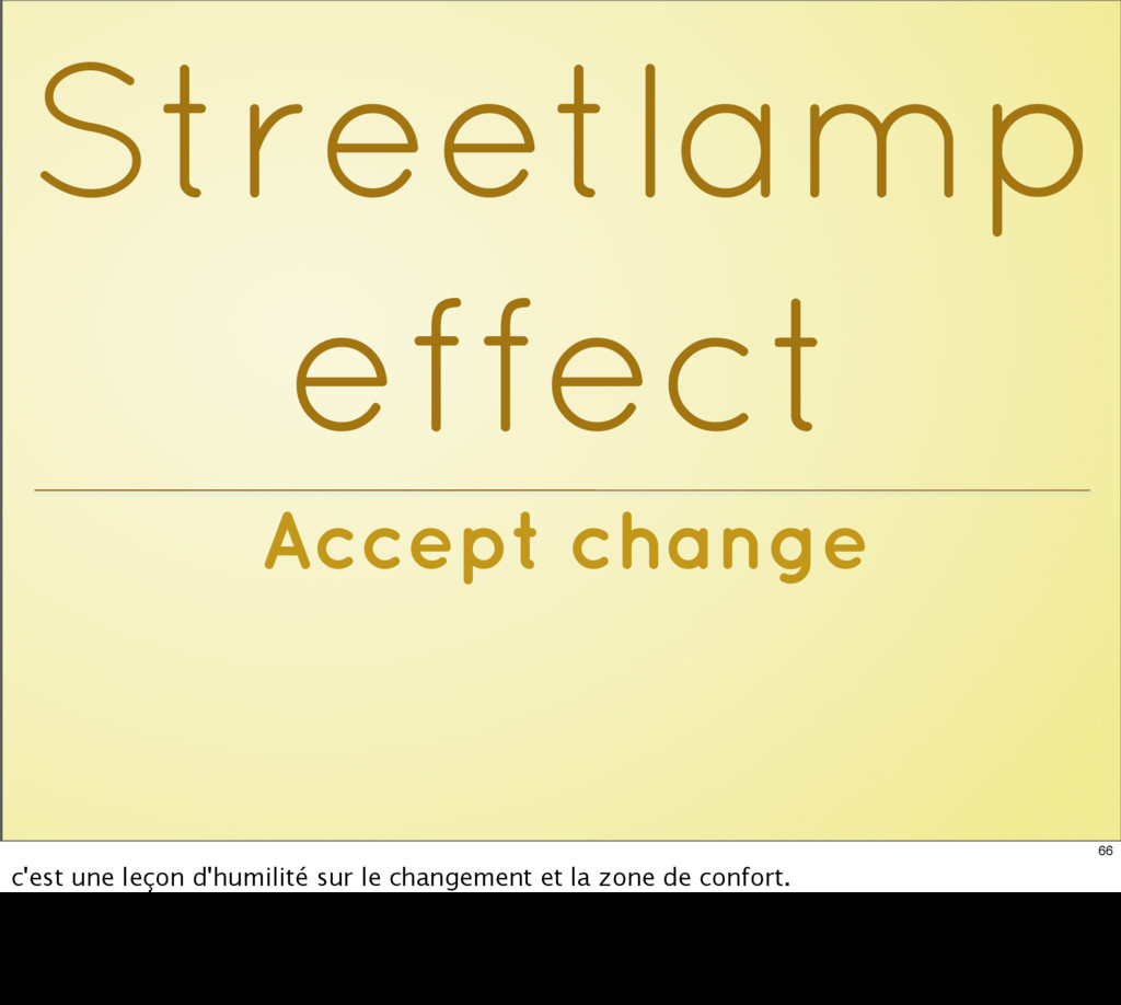 Accept change Streetlamp effect 66 c'est une le...